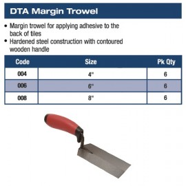 "MARGIN TROWEL 6"" X 2"""