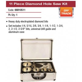 11 PIECE DIAMOND HOLE SAW KIT