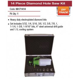 14 PIECE DIAMOND HOLE SAW KIT