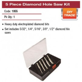 5 PIECE DIAMOND HOLE SAW KIT