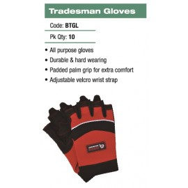 BOSS TILERS GLOVES GEL PRO SIZE LARGE Fingerless Tiler's Gloves