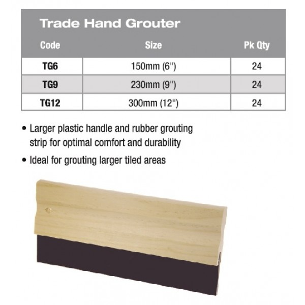 TRADE HAND GROUTER 9""