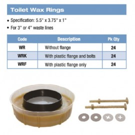 WAX RING - Wax Ring Kit w/ Flange and Bolts