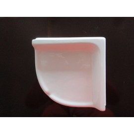 "LARGER CORNER SHELF, THIN SET WHITE 8.7"" x 2.4"" x 8.5"""